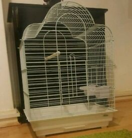 BRAND NEW White Parrot Bird Cage For Sale [Suitable for Budgies/Cockatiels/Lovebirds/Ringnecks/Etc]