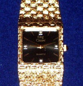 BRAND NEW VINTAGE OLEG CASSINI DIAMOND WATCH