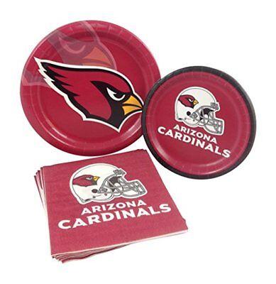 Arizona Cardinals Football Party Dinner Dessert Paper Plates Napkins for 8 - Football Desserts