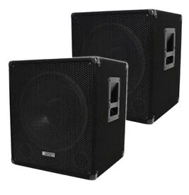 Evolution bass bins (pair) brand new in boxes 300watts rms each
