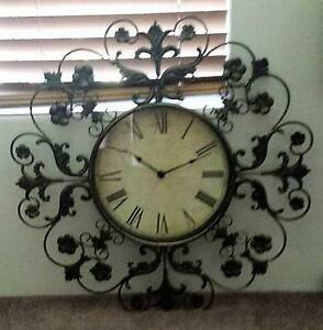 Wrought Iron Clock Butler Wanneroo Area Preview