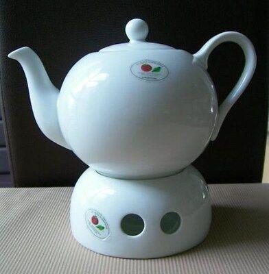 8  Porzellan Teekännchen 45 cl mit Stövchen  SNACK