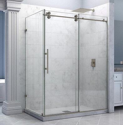 6.6FT stainless steel decor sliding shower barn door hardware shower room kit