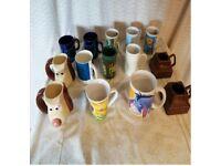 mugs including some novelty ones.