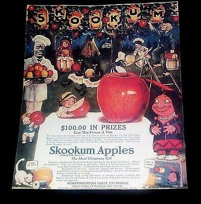 GOLD DUST TWINS SKOOKUM APPLES RARE ADVERTISEMENT REPRINT 1916 CAMPBELL SOUP - Advertising Halloween