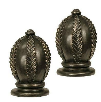Gold Leaf Finials - Harome Varnava Collection Pair of 2