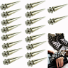 50Pcs 26mm Silver Spots Cone Screw Metal Studs Leather Craft Rivet Bullet Spikes