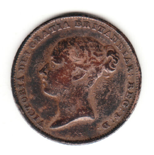 1840 Great Britain Queen Victoria Sterling Silver Sixpence. VF.
