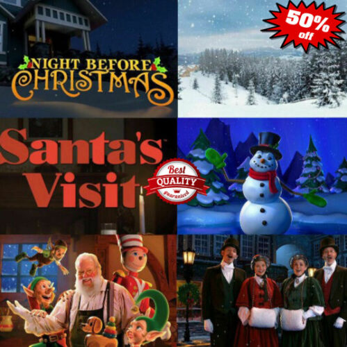 6 Christmas  Set  AtmosFx Projection Decoration SANTA +WINTER+ SNOWMAN 🎅🎄