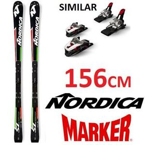 USED NORDICA SKIS W/ BINDINGS 156CM 140176819 NORDICA DOBERMANN SL WORLD CUP MARKER RACE BINDINGS