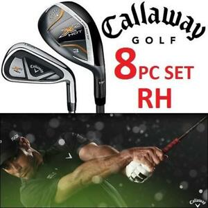 NEW 8PC CALLAWAY X2 GOLF SET RH 199853297 GRAPHITE REGULAR SHAFT 3H 4H 5PW STEEL IRONS