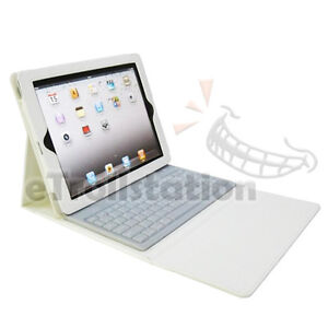 For iPad 1 2 2nd 3 3rd 4 gen Stand Leather Case Cover with Bluetooth Keyboard