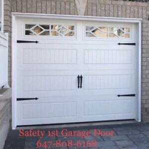 Steel Insulated Garage Door with Windows Installed 647-808-6168