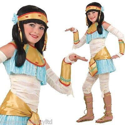 7 PC Mädchen Ägyptische Kleopatra Mumie Buch Tag Kostüm Kleid Outfit 3-10 Jahre