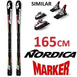 USED NORDICA SKIS W/ BINDINGS 165CM 140184175 NORDICA DOBERMANN SL WORLD CUP MARKER RACE BINDINGS
