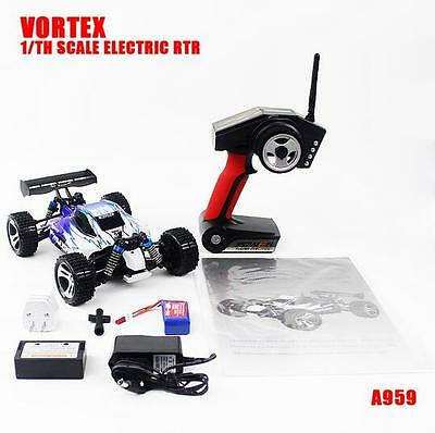 Wltoys A959 Vortex 1:18 2.4G 4WD Electric RC Car Off-Road Buggy RTR 50KM/h