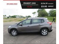 PEUGEOT 2008 1.6 BLUE HDI ACTIVE SW,2015,Bluetooth,DAB,Cruise,78mpg,Zero Road Tax,F.S.H