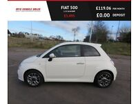 FIAT 500 1.2 S 2015,,Bluetooth,Air Con,£30 Road Tax,60mpg,Service History,Spotless Condition