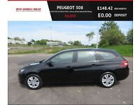PEUGEOT 308 1.6 BLUE HDI SW ACTIVE,2016,1 Owner,Sat Nav,Bluetooth,DAB,88mpg,£0 Road Tax