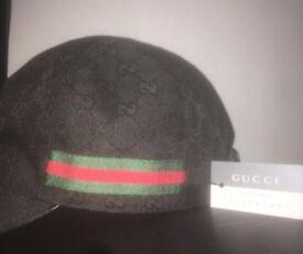 Authentic Gucci Canvas Cap - BLACK EDITION RRP £190