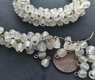 Vintage 6mm Translucent Dimpled Glass Bead Charms Japan 24