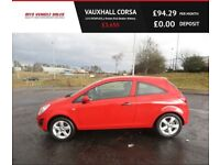 VAUXHALL CORSA 1.0 S ECOFLEX,2013,1 Lady Owner,Full Dealer History,55mpg,£30 Road Tax,Very Clean