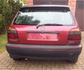 VW Golf Mk3 Tailgate - Hot Chilli Red LC3L