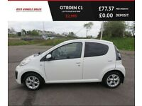 CITROEN C1 1.0 VTR PLUS,2013,1Owner,64mpg,Zero Road Tax,Alloys,Air Con,Very Clean Car