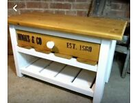 Real Wood TV stand. Shabby chic/vintage