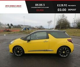 image for Citroen DS 3 1.6 BLUE HDI,SPORT,2015.Dab,Bluetooth,Cruise Control,78mpg,£0 Road Tax