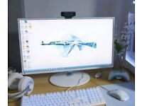 White and Blue Samsung 27inch LED 1920x1080 60Hz PC monitor SD391