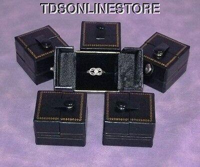 Black Snap Ring Gift Boxes 12 Qty