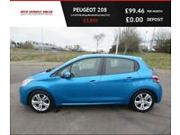 PEUGEOT 208 1.4 ACTIVE,2012,Alloys,Air Con,Bluetooth,Cruise,F.S.H,50mpg,Very Clean