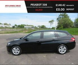 image for PEUGEOT 308 1.6 BLUE HDI SW ACTIVE,2016,1 Owner,Sat Nav,Bluetooth,DAB,88mpg,£0 Road Tax