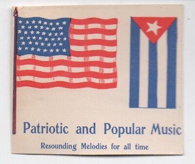 1890s Trimmed Trade Card Patriotic & Popular Music Cuban & American Flags