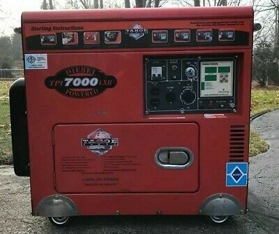 Tahoe Power Tpi 7000 Lxh Diesel Powered 418cc Portable Generator 7kw
