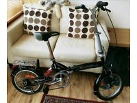 "Bicycles4U folding bike / bicycle 16"" wheels commuter 6 speed lightweight rear suspension"