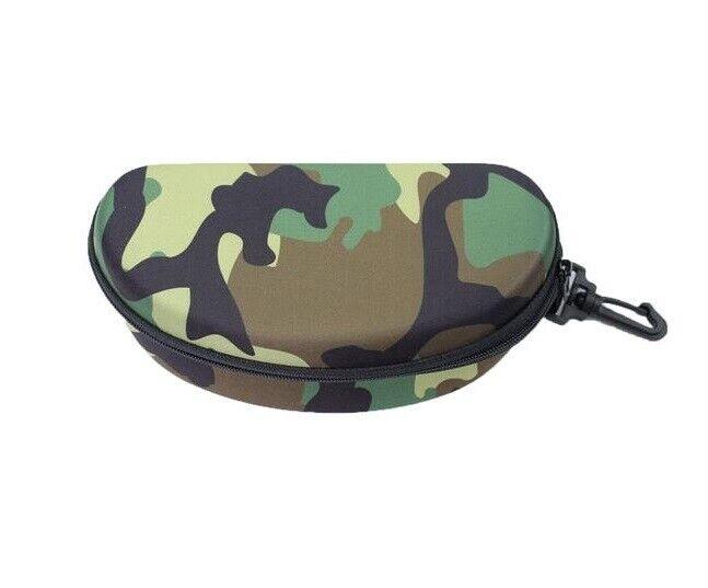 große Sonnenbrillentasche / Sonnenbrillenetui mit Reißverschluß mit Karabiner
