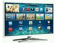 """White Samsung 40"""" LED smart 3D wifi built USB MEDIA PLAYER HD FREEVIEW and freesat Screen"""