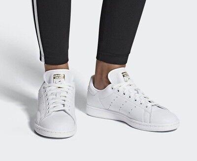 adidas Stan Smith CG6014 Weiß Frauen Sneakers Damenschuhe Echtleder Schuh NEU Damen Weiß Leder