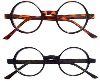 Vintage Inspired 50s style Round Circle Clear Lens Glasses Eyeglasses](50s Style Glasses)