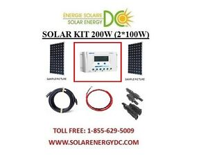 solar panel kit panneau solaire 200w 200 watt 2 100 w. Black Bedroom Furniture Sets. Home Design Ideas