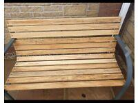 Garden Slatted Garden Bench Wooden Seater Outdoor Furniture
