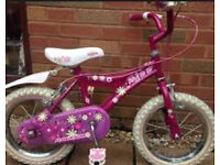 Raleigh Mini Miss kids bike with removable stabilisers