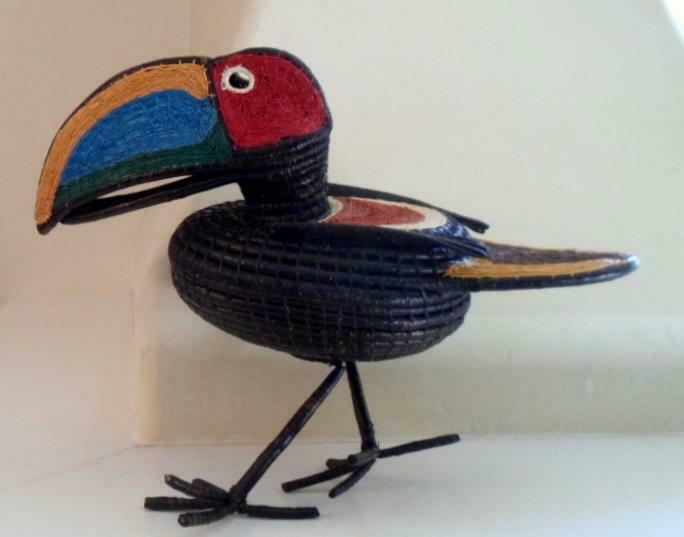 Wounaan Indian Basket Weaver Fantasy Toucan-Panama 21032513mm