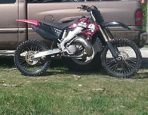 Stolen CR250R black metal melisha decals