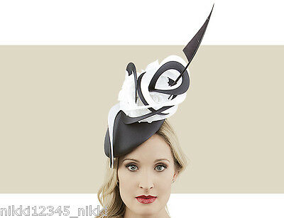 c82e5d38d30c6 PHILIP TREACY BLACK COUTURE BERET IN LYCRA WITH COUTURE SWIRLS