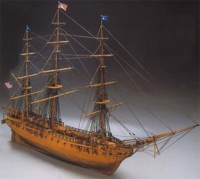 """Beautiful, brand new wooden model ship kit by Mantua: the """"USS Constitution"""""""