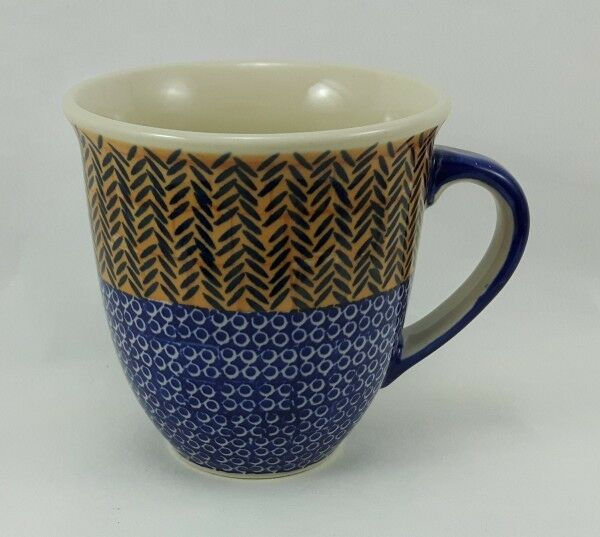Bunzlauer Keramik Tasse MARS Becher U N I K A T 0,3Ltr. K081-EO36 Blumen