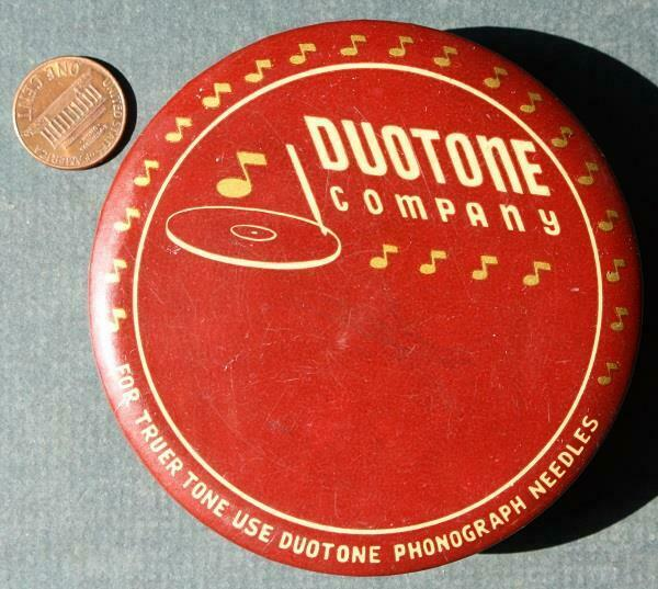 1940s WWII Era Duotone Phonograph Needles cello & felt record cleaner-SCARCE!*